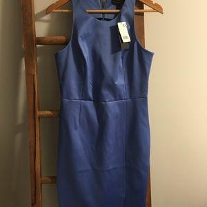 Banana Republic Dresses - Periwinkle color Satin Stretch Cocktail Dress